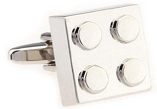 Mrcuff Building Block Pair Cufflinks In A Presentation Gift Box & Polishing Cloth