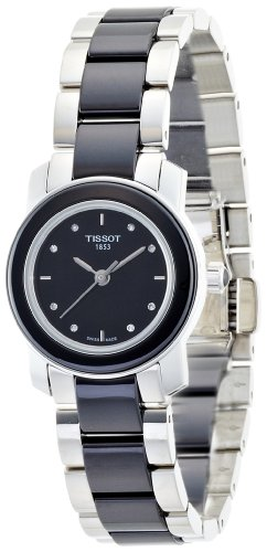 Tissot Women's T0642102205600 Cera Black Dial Diamond-Accented Ceramic Watch
