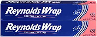 Reynolds Wrap Aluminum Foil, 175 Square Feet (Pack of 2), 350 Total Square Feet