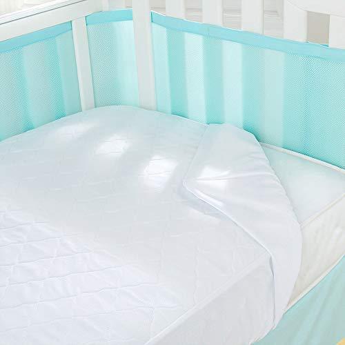 Ademende baby 3 in 1 matrasbeschermer, kinderbedje 140cm x 70cm