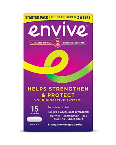 Envive Daily Probiotic Supplement for Men and Women from Bausch + Lomb, Helps Strengthen and Protect The Digestive System Capsules, 15 Count
