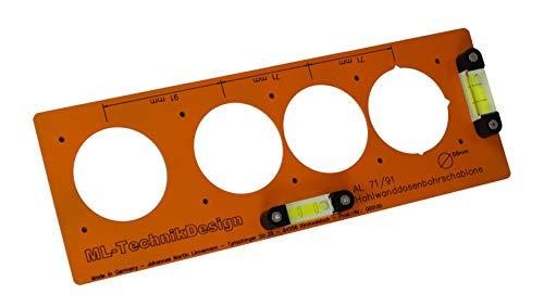 Bohrschablone für Hohlwanddosen Schablone Schalterdosen Elektroinstallation (Aluminium- ohne Zubehöhr)