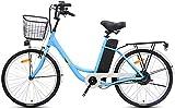 Bicicletas Eléctricas, Bicicletas eléctricas for adultos, de 24 pulgadas bicicleta eléctrica 250W 36V 10Ah batería extraíble de litio de bici adecuados for personas con cesta 155-185cm ,Bicicleta