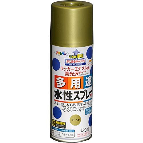 アサヒペン 水性多用途スプレー 420ML ゴールド