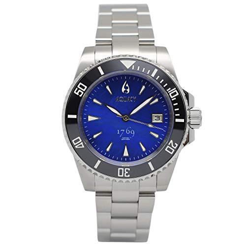 Aquacy 1769 Hei Matau Reloj automático para hombre, 300 m, madre perla, color azul