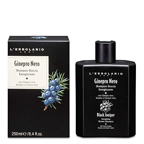 L'Erbolario GINEPRO NERO Energiespendendes Dusch-Shampoo, 1er Pack (1 x 250 ml)
