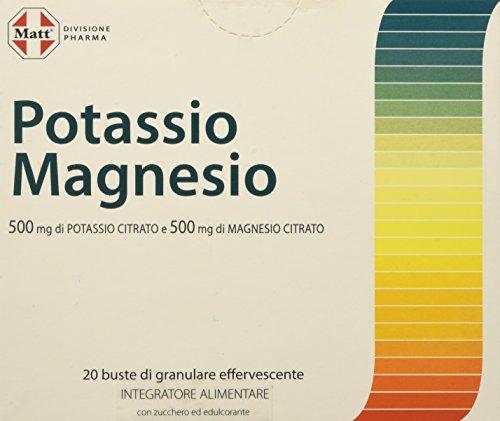 Matt Divisione Pharma Potassio e Magnesio, Confezione da 20 Buste