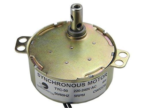 Synchronmotor TYC-50 AC 220V 5-6RPM CW/CCW Drehmoment 4.8Kgf.cm 4W Power