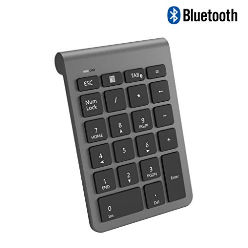 CATECK numérico inalámbrico Bluetooth,Teclado numérico 22 Teclas Bluetooth de tecladopara Data Entry de Contabilidad PC/Notebook/de Escritorio/Tableta