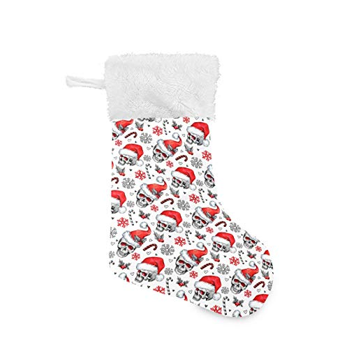 GOODOLD Christmas Stocking Christmas Skull Candy Big Warm 18 x 12 Inch Hanging Xmas Stockings Decoration for Family Holiday Party Ornaments Decor Fireplace 1 PCS