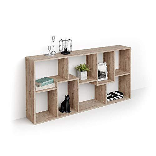 Mobili Fiver, Libreria Bassa XS Iacopo (160,8 x 80 cm), Quercia, Nobilitato, Made in Italy, Disponibile in Vari Colori