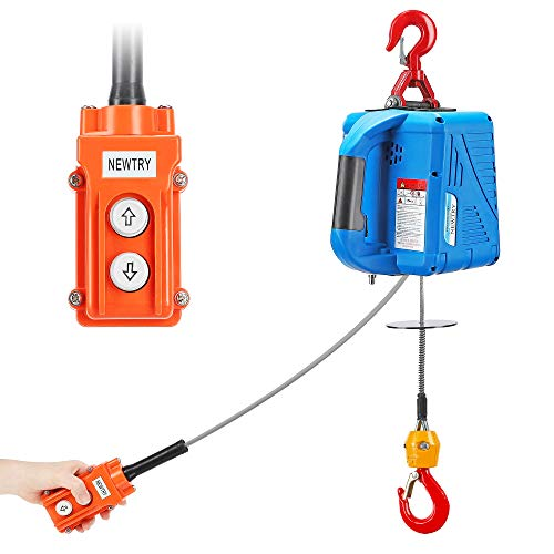 NEWTRY 1100lbs Electric Hoist Winch 110/120 Volt Wire Control 16ft/min