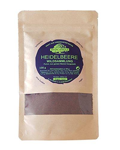 Heidelbeere (Blaubeere) Frucht-Pulver | NATURA BOREALIS | 100g | Superfood ohne Zusatzstoffe