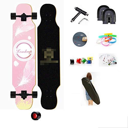 YSCYLY Skateboards Komplette,107cm Longboard Skateboard,Geeignet for Jugendliche/AnfäNger/Jungen/MäDchen/Kinder/Erwachsene