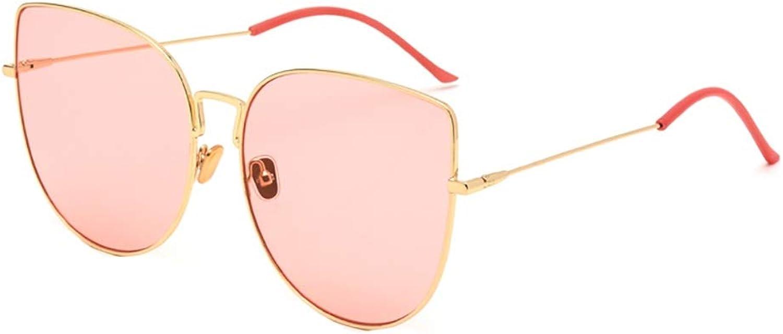 Sunglasses Female Korean Version Tide Retro Harajuku Style Round face Sunglasses Star net red with Glasses (color   D)