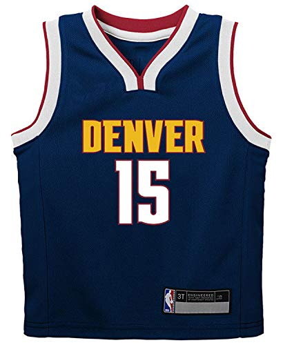NBA Kids 4-7 Official Name and Number Replica Home Alternate Road Player Jersey (5/6, Nikola Jokic Denver Nuggets Navy Icon Edition)