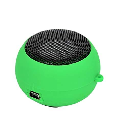 WYL draagbare luidspreker, kleur mini-burger-luidspreker versterker voor iPod iPad-laptops en verschillende merken mobiele telefoons, groen