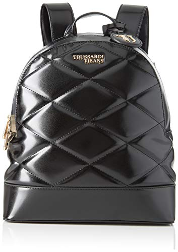 Trussardi Jeans T-Easy City Quilt Backpack MD, Zaino Donna, Nero (Black), 30x11.5x26 cm (W x H x L)
