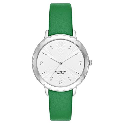 Kate Spade New York Morningside con cinturino in pelle verde per donna, orologio KSW1509