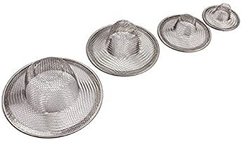 Maxware Stainless Steel Sink Strainer Set- 4 Pieces, Fits Most Kitchen Sinks, Bathroom Sinks,Shower Drains