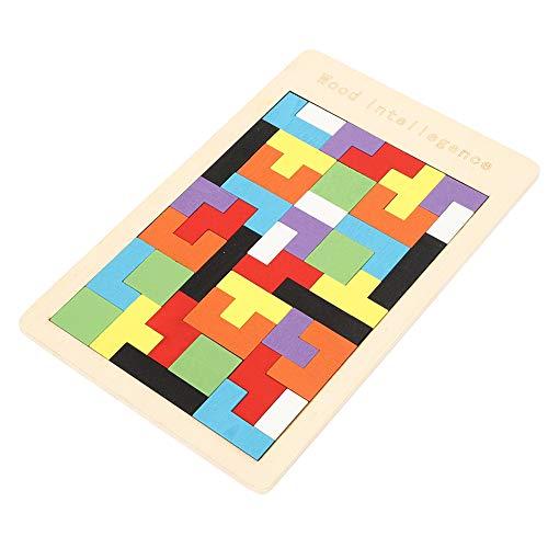 Pssopp Rompecabezas de Madera Tetris Rompecabezas de Juguete Rompecabezas Inteligencia Colorido 3D Juego de Bloques rusos Montessori Regalo Educativo para bebés y niños