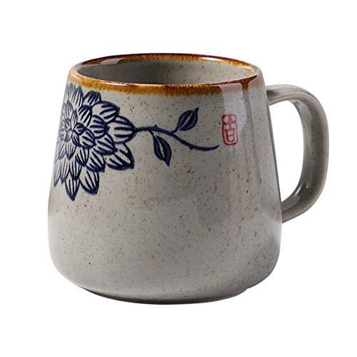 fsafa Vintage Taza De Café Único Japonés Retro Estilo Cerámica Tazas, 150Ml Kiln Cambiar Desayuno Taza Regalo para Los Amigos, Novedad Personalizada Chocolate Té Leche Tazas, Mejor Regalo, Estilo