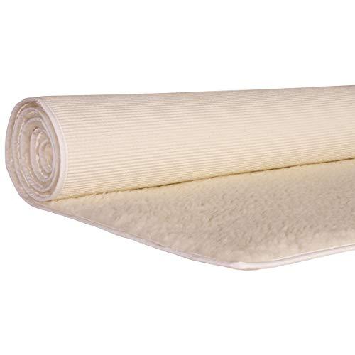 Yogabox Schurwollmatte KHF Natur 1300gr. umsäumt, L: 200 cm/B: 75 cm/H: 1.5 cm