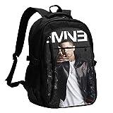 vmacnvm 16 inch Zaino per laptop,Zaino per computer da viaggio grande per donne uominiwith USB Charging Port Durable College Bookbag School Bags