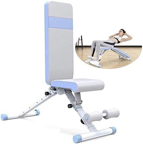 Cnley Banco de pesas de prensa comercial Banco de pesas ajustable Banco de pesas para sentarse, con mango de crujido invertido para ejercicios de finura y posición plana/inclinación/declinación
