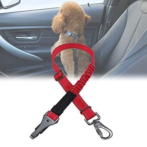 YCRD Cinturón Seguridad para Perros, arneses de Seguridad Ajustables 3 en 1 para el Coche, cinturón Seguridad Reflectante con Ganchos para Todas Las Razas Perros y Tipos Coches
