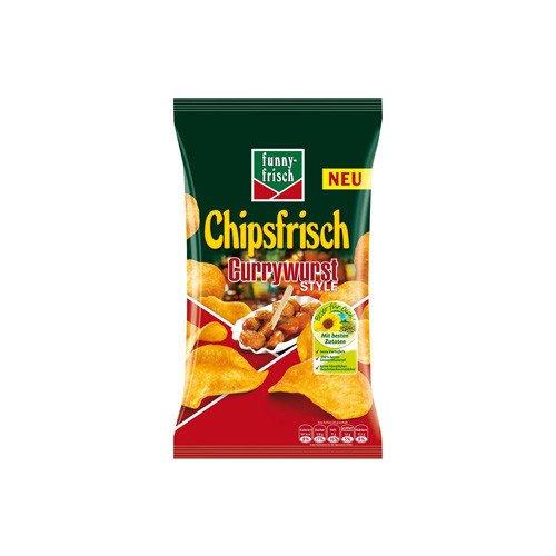 Funny-Frisch Chipsfrisch Currywurst Style, 4er Pack (4 x 175 g)