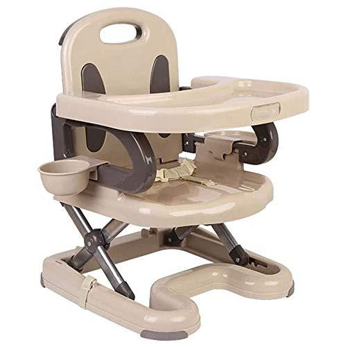 JJSFJH Kinderstühle Sitze Zubehör Hochstuhl faltbares abnehmbares Tablett Dinning Stühle Kinderstuhl Reisen Babyernährung Hochstuhl Tisch for Kleinkind Hochsitzsäuglingsbabynahrung Tray (Farbe: Beige,