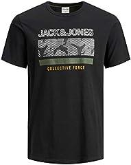 JACK & JONES Camiseta Manga Corta Hombre Ajustada Cuello Redondo