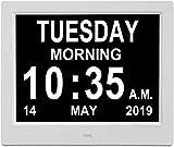 KINOEE [Newest Digital Calendar Day Clock,12 Options Alarm Clock - Memory Loss Day Clock - with Large Clear...