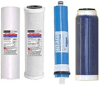 Purely H2O Optima Vision Filter Set + 75gpd DOW FILMTEC Membrane