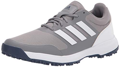 adidas Men's Tech Response Spikeless Golf Shoe, Grey Three/Ftwr White, 10.5
