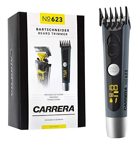 CARRERA Bartschneider Barttrimmer No 623 | 4-14 mm Aufsatz | Li-Ion Akku USB-Ladeoption | Edelstahl Schneidsatz | Haarschneidemaschine