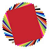 HTVRONT Heat Transfer Vinyl Bundle - 17 Pack 12'x10' Iron On Vinyl Sheets for T-Shirts with 1 Teflon Sheet - 13 Assorted Colors HTV Vinyl for Clothes