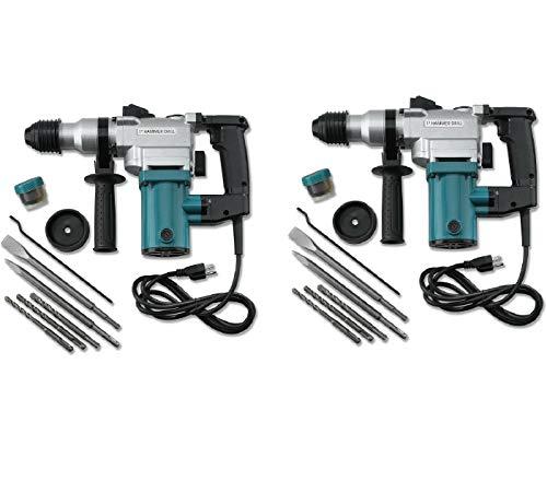 2 set 1' Electric Rotary ROTO Hammer Drill SDS Concrete Chisel Kit w/Bits, Jikkolumlukka