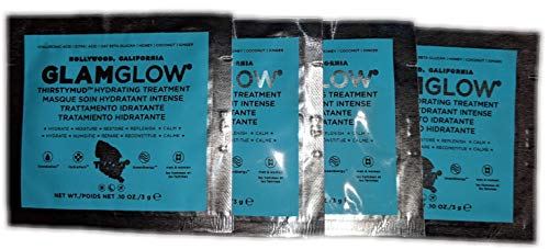 GLAMGLOW ThirstyMud hydrating treatment , 0.1 Ounce , 4 Pack
