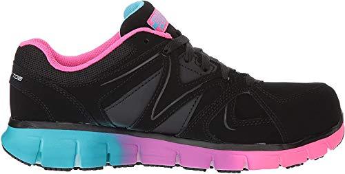 Skechers for Work Women's Synergy-Sandlot Work Boot,Black/Multi,9 M US