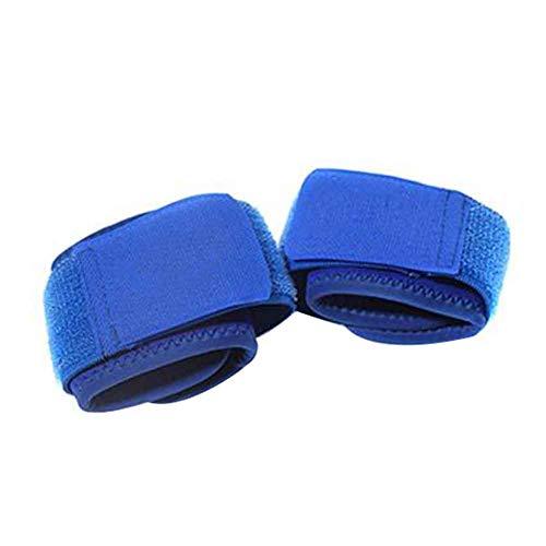 Muñequera Túnel carpiano, soporte ajustable para la muñeca para aliviar la artritis y el dolor de la tendinitis, correas ergonómicas de compresión para hacer ejercicio y levantamiento de pesas Tamaño libre azul
