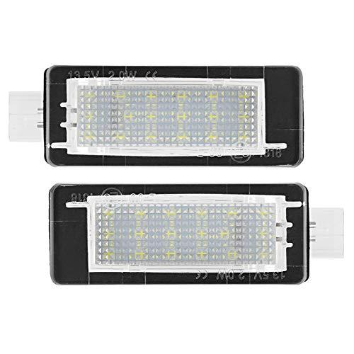 Duokon 2pcs sin errores número de matrícula del coche de la matrícula de la lámpara de luz LED se adapta a Dacia Duster 2010-2015