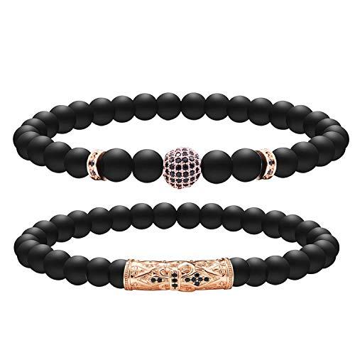 Armband aus Naturstein, für Damen und Herren