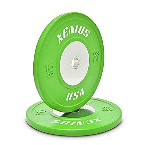 Xenios USA PSBPCRBPL10 Disco Halterofilia - - Competition Bumper Plate