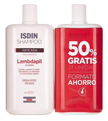 ISDIN Lambdapil Tratamiento Champú Anticaída - Set 2 x 400 ml. (Total 800 ml.)