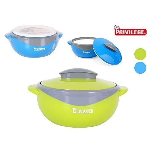 Privilege - Fiambrera termo para alimentos, 1000 ml, mantiene la comida caliente, para niños y almuerzos escolares, compacta con forma de cuenco termo – ligero – apto para lavavajillas – libre de BPA