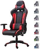 Delman Gaming Stuhl Bürostuhl Racing Stuhl Gamer Ergonomischer Stuhl Einstellbare Armlehne Einteiliger Stahlrahmen Einstellbarer Neigungswinkel 02-1004 Rot