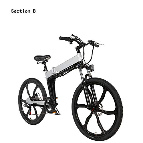 Buy HWOEK Adults Electric Mountain Bike, Aluminum Alloy Frame 26 Inch Folding City E-Bike Dual Disc ...