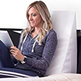 DMI Bed Wedge Pillow and Triangle Wedge with Elevated Incline for Neck Pain, Headaches, Reflux, Shoulders, Back Pain, Foot Support, Knee Pain or Restless Leg Syndrome, 24x24x10 inches, White